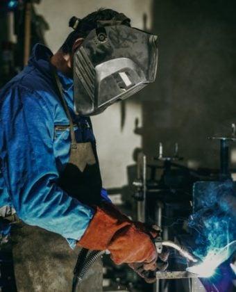 Man welding tile - Quality Steel Supplier Newcastle - All Steel Cardiff