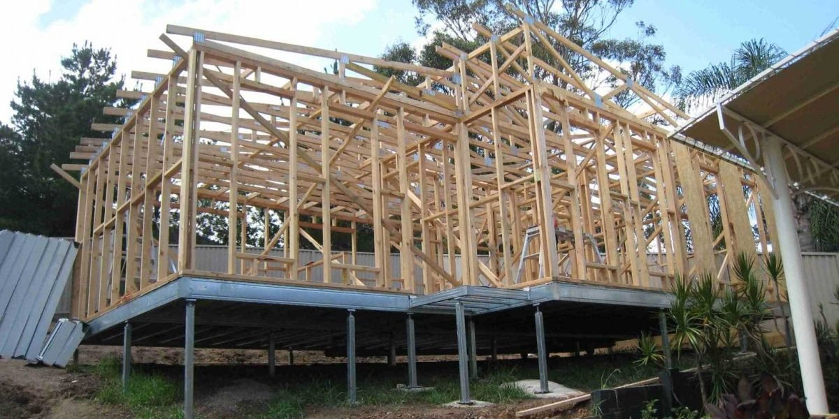Granny flat on ezipiers - Quality Steel Supplier Newcastle - All Steel Cardiff